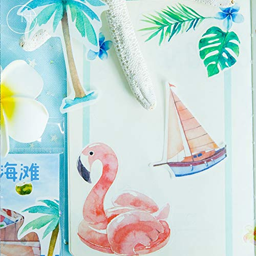 BLOUR Kawaii Aufkleber Strand Muster Sommer Reise Serie Aufkleber Aufkleber Nette Scrapbooking Briefpapier Aufkleber40 Stück/Los