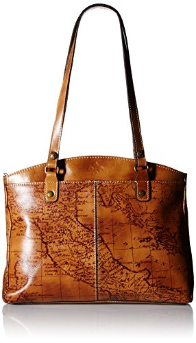 Patricia Nash Poppy Top Zip Tote, Signature Map