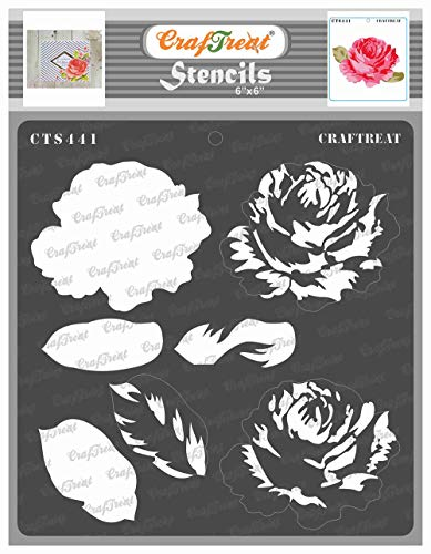 Craftreat Schablonen mit verschiedenen Blumen-Motiven