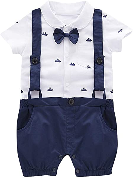 Baby Boys Clothes Sets Bow Ties Shirts Suspenders Pants Toddler Boy Gentleman Outfits Suits