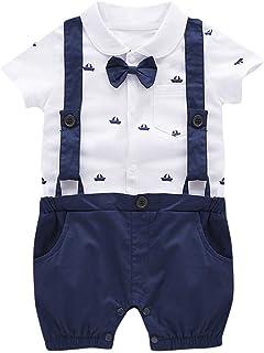 Divertido Pijama,K-Youth Ropa de Caballero Mameluco Bebe Niño Verano Ropa Bebe Recien Nacido Niño Body Bebe Pelele Bebe Niño Mono para Niños Bautizo Bodies Bebés Infantil Peto