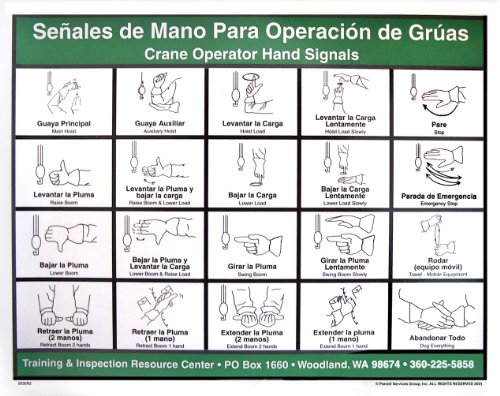 Crane Operator Hand Signal Chart Spanish Buy Online In Brunei Elco Products In Brunei See Prices Reviews And Free Delivery Over Bnd100 Desertcart