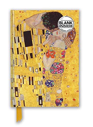 Premium Notizbuch Blank DIN A5: Gustav Klimt, Der Kuss: Unser hochwertiges Blankbook mit festem, künstlerisch geprägtem Einband (Premium Notizbuch DIN A 5 mit Magnetverschluss)