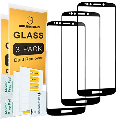 [3-PACK]-Mr.Shield For Motorola Moto E5 Plus [Japan Tempered Glass] [9H Hardness] [Full Cover] Screen Protector with Lifetime Replacement