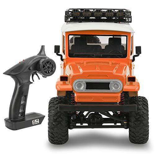 Omabeta Mini coche de control remoto de cuatro ruedas coche mejor regalo de cumpleaños adolescentes juegos (naranja)
