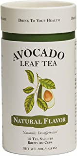 Avocado Leaf Tea/ 100% All-Natural Avocado Leaf/Decaffeinated/Super Antioxidant Tea/Supports & Boosts Immune System / Loaded with Polyphenols/ 15 Tea Sachets, 30 Servings/ Herbal Tea/ Brew Hot or Cold