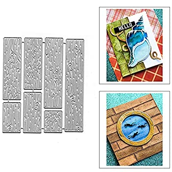 Wood Grain Background Wall Embossing Metal Cutting Die Cuts Wood Grain Embossing Stencils DIY Crafts Cards Cutting Dies Cuts for DIY Embossing Card Making Photo Decorative Paper Dies Scrapbooking