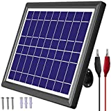 POWOXI Solar Panel 6V 6W Car Battery Deer Feeder Solar Battery Charger Maintainer + Controller + Adjustable Mount Bracket Waterproof Solar Trickle Charger with Alligator Clip