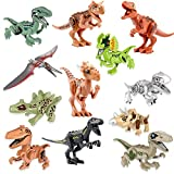 Dinosaur Toys 12 Pack Mini Dinosaur DIY Action Figures Building Blocks,Jurassic Theme Dinosaur Building Blocks Toy Plastic Playsets, Educational Gift for Kids