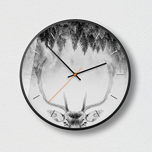 WuuLii Decor Horloge Murale - Horloge Murale Décor - Horloge Décorative pour Salon, Chambre Horloge Murale Silencieuse sans Couturière Art Petit Frais Créatif, 14 Pouces, 05