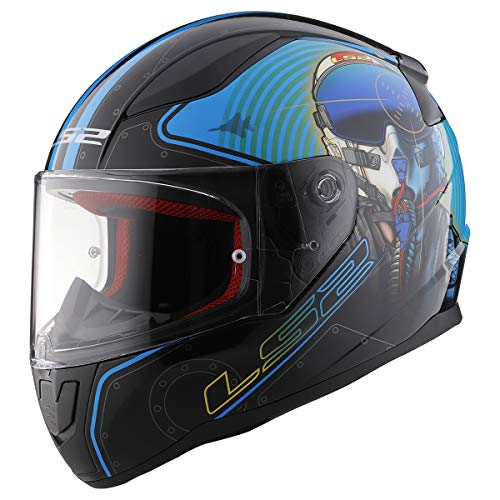 LS2 Helmets Full Face Rapid Street Helmet (Mach II Fighter Pilot - Large)