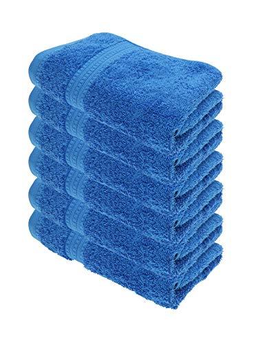 Julie Julsen Bio Handtuch-Set 6 STK. 50x100 Royalblau 100% Baumwolle Frotte 550g/m²