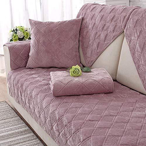 Ginsenget Funda de sofá Chaise Longue,Funda de sofá Suave Antideslizante a Prueba de Polvo Funda de sofá Easy Fit,Funda para sofá,Rosa,70X150cm