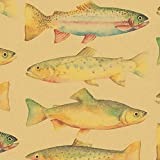 Rainbow Trout Gift Wrapping Paper Roll - 24' x 15'