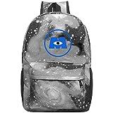 352 Mon-sters Inc. Unisex Rucksack, modische Laptoptasche, wasserdicht, für Reisen, Schulranzen für Männer und Frauen, grau, Einheitsgröße