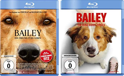 Bailey 1+2 (Ein Freund fürs Leben/Ein Hund kehrt zurück) im Set - Deutsche Originalware [2 Blu-rays]