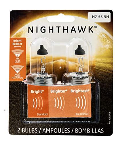 GE Lighting H7-55NH/BP2 Nighthawk Halogen Automotive Replacement Bulbs, 2-Pack