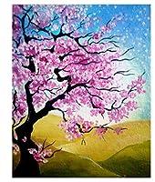 油絵渦巻く桃の木5Dダイヤモンド絵画クロスステッチキットホームルームの装飾、刺繡クロスステッチアートクラフト。