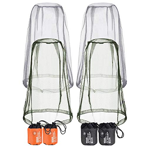 SAWMLIA Mosquito Head Net, Face Mesh Protecting Net for for Men, Women, Children and Kids Indoor Outdoor Travel, Camping Hiking Fishing Accessories