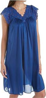 "Shadowline womens Silhouette 40"" Short Cap Sleeve Waltz Gown Nightgown"