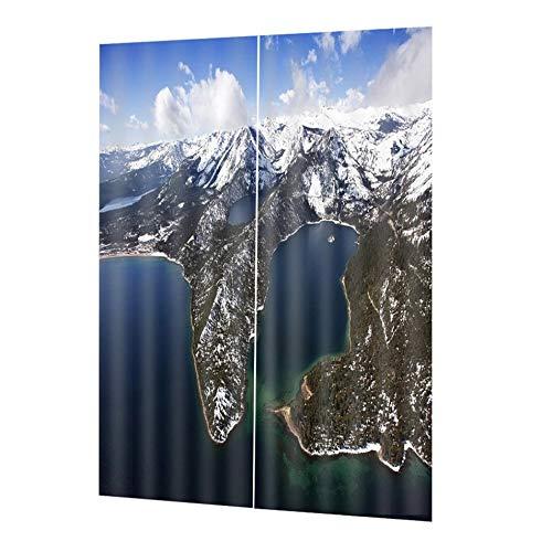 cortinas opacas 2 piezas ventanas