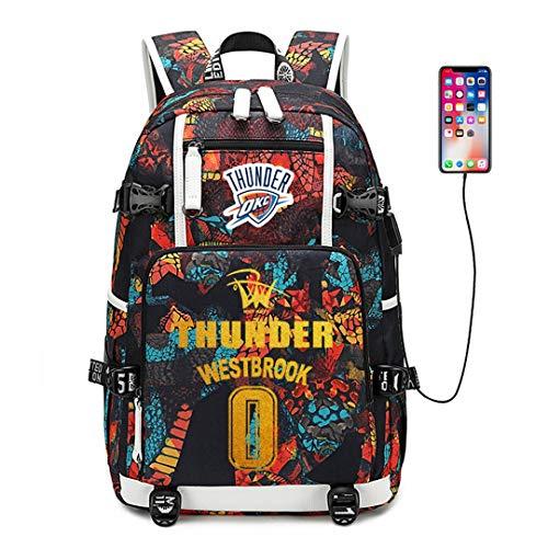 Augyuess Basketball Player Star Rucksack Schulranzen Daypack Bookbag Schultertasche Laptoptasche Rot Westbrook 4