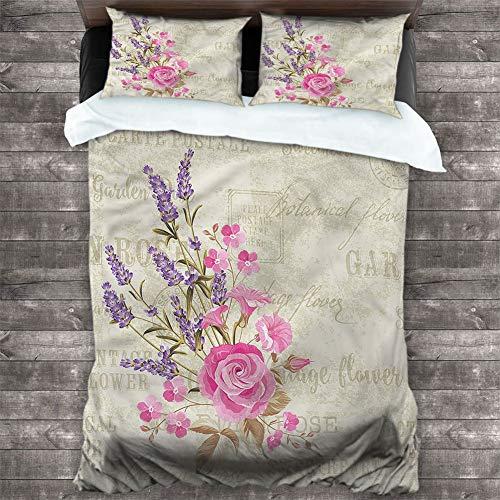 Bedspread Coverlet Set Lavender,Postal Stamp and Postmarks Bedding Cover Set 3 Piece Set Wrinkle, Fade, Stain Resistant, Cal King 68'x90'