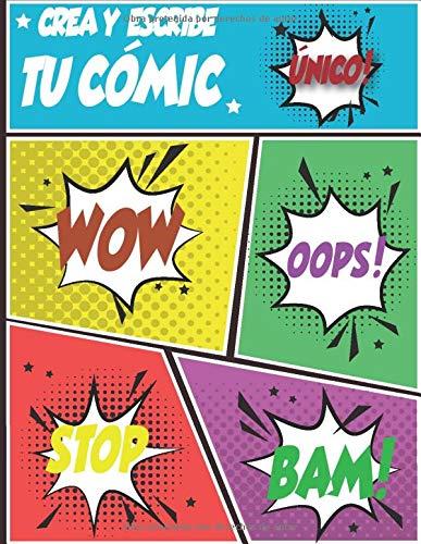 Crea y escribe tu cómic: Plantillas de cómics en blanco   Crea tu Cómic   Cuaderno de dibujo para adultos, adolescentes y niños