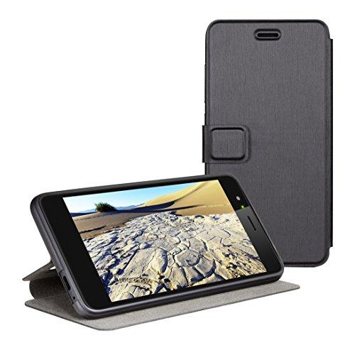 Gigaset Smartphone Book Case - Schutzhülle - anti-scratch - Handy Schutz - Full Body Beidseitiger 360°Schutz - Rundum-Schutz Zubehör - für GS170 - Black
