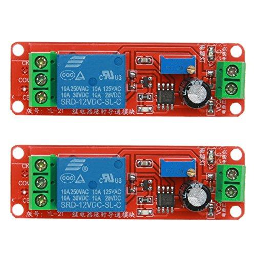 ARCELI 2 STÜCKE NE555 12 V DC Einstellbar 0-10 Sekunden Timer Verzögerungsschalter Modul für Arduino Raspberry Pi