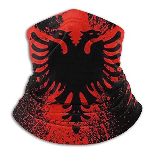 Albanian Flag Of Eagle Bird Mascarilla Bandana para Sun Dust Wind Diadema para hombres Mujeres Neck Gaiter Rave Face Mask