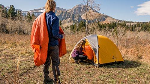 TETON Sports Altos Lightweight Mummy Sleeping Bag; Camping, Hiking, Backpacking, 0F/ Orange/Synthetic, 84 x 32 x 3 inches (1169)