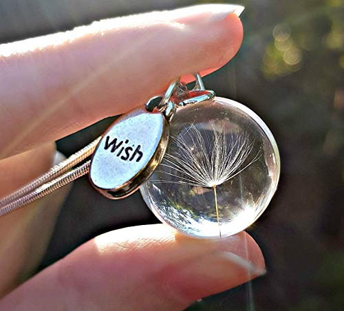 Sterling Silver Chain Majestic Dandelion Wish Necklace Pendant Sterling...