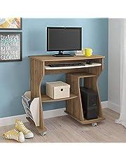Artely 160 Computer Desk, Pine Brown with Off White, W 88 cm x D 46 cm x H 78 cm