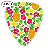Taste Of Aloha_2669 Classic Celluloid Picks, 12-Pack, For Electric Guitar, Acoustic Guitar, Mandolin, And Bass
