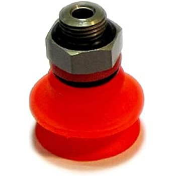 Vacuforce VFB50-2SMI Single Bellow Metal Impregnated Red Silicone Vacuum Cup 50 mm Type E Fitting