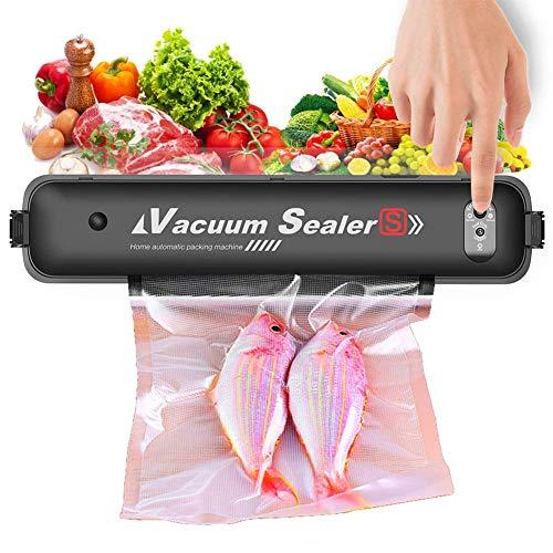 ZXL Vakuumierer, Geräte Bewegliche Automatische Lebensmittel Sealer Vacuuming Für Lebensmittelkonservierung, Dry & Moist Modi, LED-Anzeigen, Mit 15 Vakuumbeutel 20X25cm