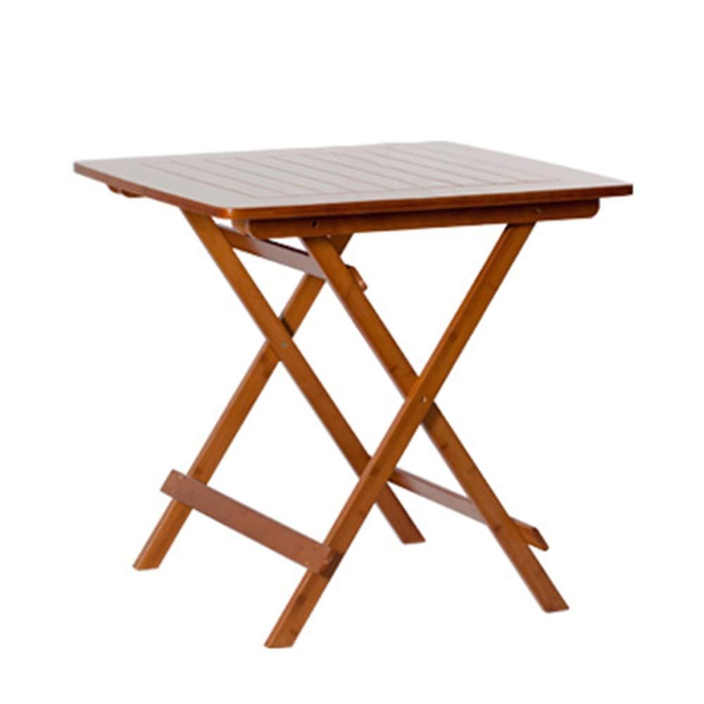 Teng Peng Mesa Plegable de Bambú Casual Plegable Práctica Mesa ...