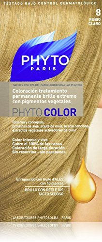 Phyto Color Coloration Soin Permanente Haute Brillance aux Pigments Végétaux - N°8 : Blond Clair