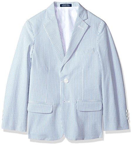 Izod boys Seersucker Blazer Jacket, Blue, 10
