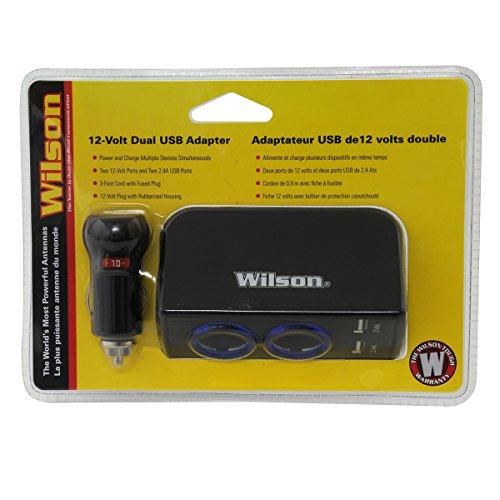 Wilson Antenna 3052224USBBL 12V 2.4 Amp Dual USB Adapter