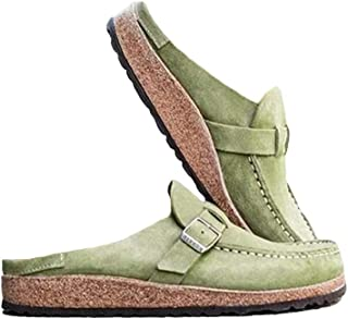 ORANDESIGNE Sandales Chaussures À Semelle Plateforme Plate Femme Sandales Été Casual Mules Chaussures De Plage Bout Fermé ...