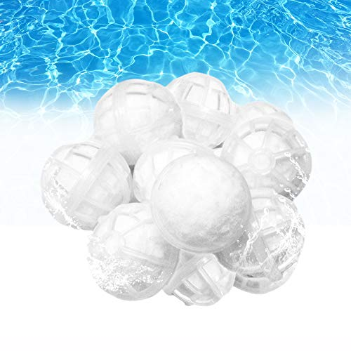 Outinhao, Filterbälle für Schwimmbäder with Cover net, Polyester, Reinigungsfaserkugel, Reinigungswerkzeug für Schwimmbäder (with net)