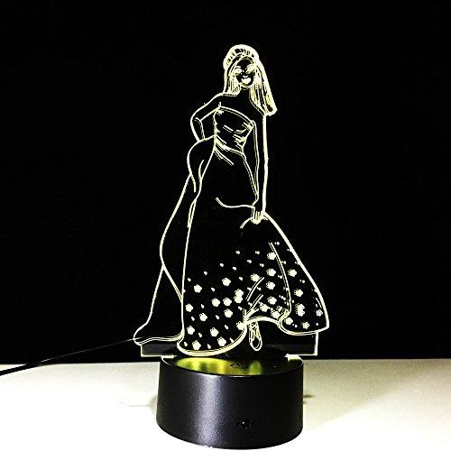 Neu für Mädchen 3d Licht bunte Remote Stereo LED Nachtlicht kreative Produkte führte neue Tischlampen