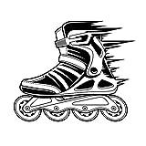 Tianpengyuanshuai Roller Skate Pegatinas de Pared Deportes calcomanías de Vinilo decoración para el hogar decoración de Arte Adornos murales Roller Skate calcomanías de vidrio58X70cm