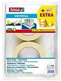 Tesa Universal ecoLogo 55421-00000-00 - Nastro adesivo per mascheratura con telo protettivo 2 x 50 m x 30 mm + 1 x 4 m x 5 m