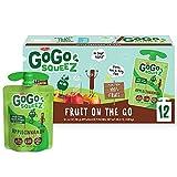 GoGo squeeZ Fruit on the Go, Apple Cinnamon, 3.2 oz. (12 Pouches) -...