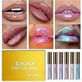 Lip Gloss, 6pcs Mermaid Shimmer Sparkly Diamond Moisturizing Glitter Lip Gloss, Long-lasting Waterproof Lip Stain, Lip Tint, Lipstick Set for Women and Girls Lip Makeup, Set # 03 (6 Colors)