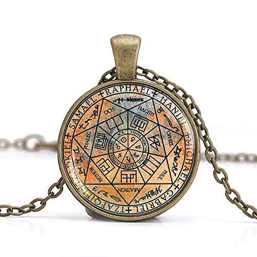 Collar con colgante de siete ángeles, amuleto de protección, joyerí