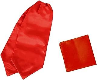 Men's Fashion Satin Cravat Microfiber Wedding Ascot Tie Extra Long Size 53 inches